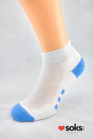 Fitness Deodorant Blue ankle socks
